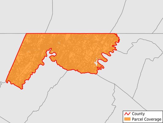 Allegany County Maryland GIS Parcel Data Download Coverage
