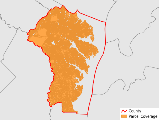 Anne Arundel County Maryland GIS Parcel Data Download Coverage