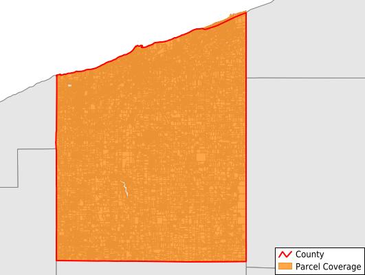 Ashtabula County Ohio GIS Parcel Data Download Coverage