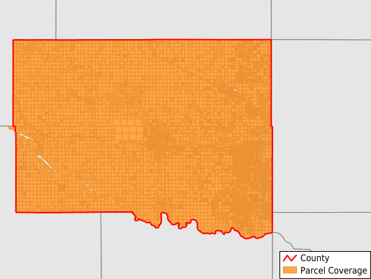 Canadian County Oklahoma GIS Parcel Data Download Coverage