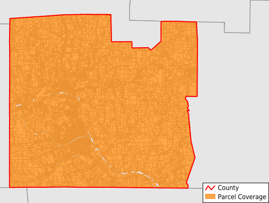 Chemung County New York GIS Parcel Data Download Coverage
