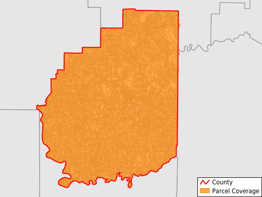 Clarion County Pennsylvania GIS Parcel Data Download Coverage