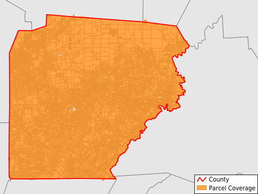 Clearfield County Pennsylvania GIS Parcel Data Download Coverage