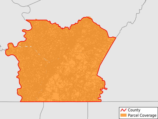 Fayette County Pennsylvania GIS Parcel Data Download Coverage