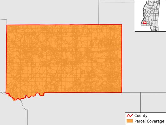 Franklin County Mississippi GIS Parcel Data Download Coverage