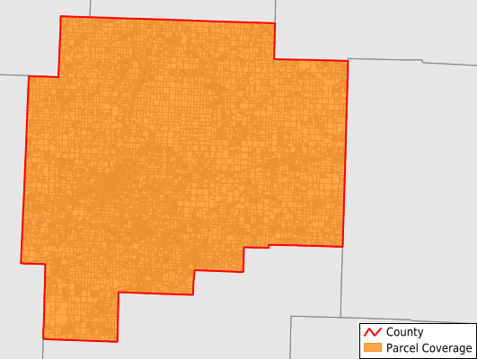 Guernsey County Ohio GIS Parcel Data Download Coverage