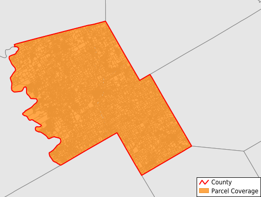 Hill County Texas GIS Parcel Data Download Coverage