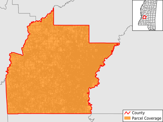 Hinds County Mississippi GIS Parcel Data Download Coverage