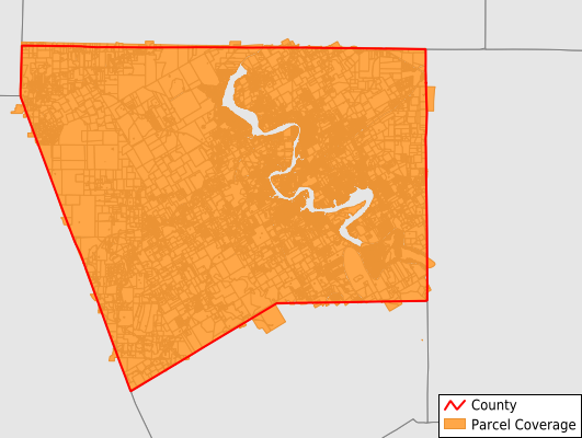 Hood County Texas GIS Parcel Data Download Coverage