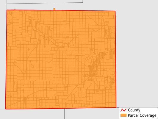Irion County Texas GIS Parcel Data Download Coverage