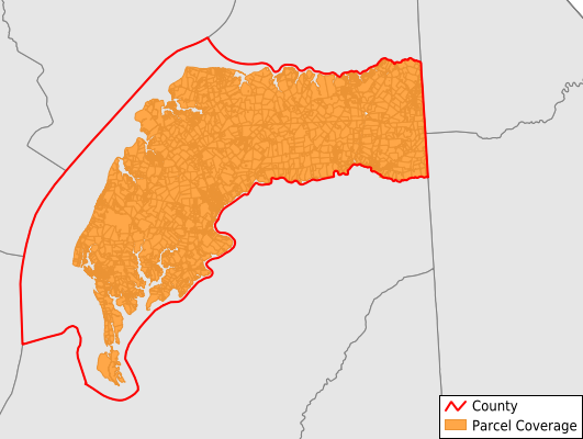 Kent County Maryland GIS Parcel Data Download Coverage