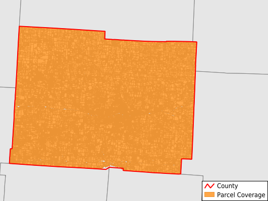 Licking County Ohio GIS Parcel Data Download Coverage