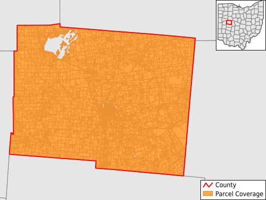 Logan County Ohio GIS Parcel Data Download Coverage