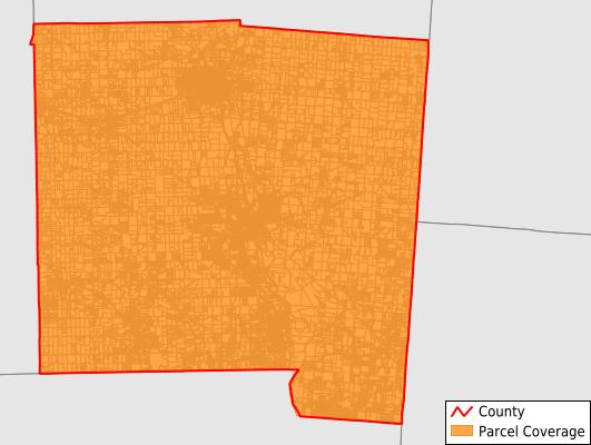 Miami County Ohio GIS Parcel Data Download Coverage