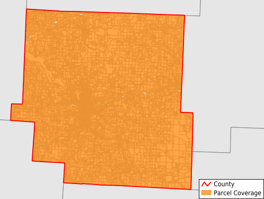 Muskingum County Ohio GIS Parcel Data Download Coverage