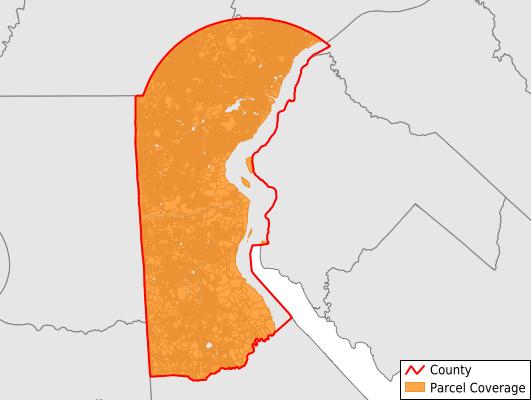 New Castle County Delaware GIS Parcel Data Download Coverage