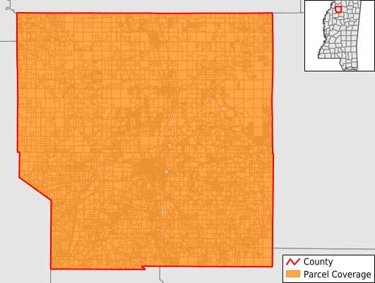 Panola County Mississippi GIS Parcel Data Download Coverage