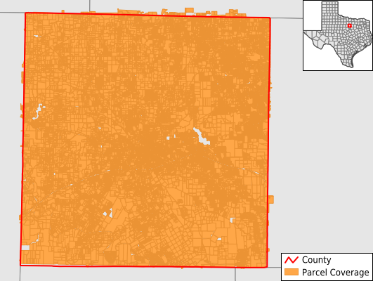 Parker County Texas GIS Parcel Data Download Coverage