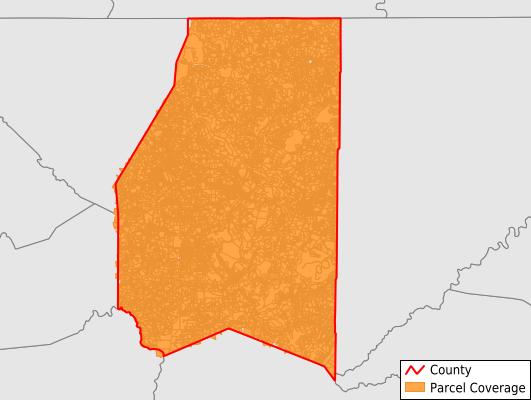 Preston County West Virginia GIS Parcel Data Download Coverage