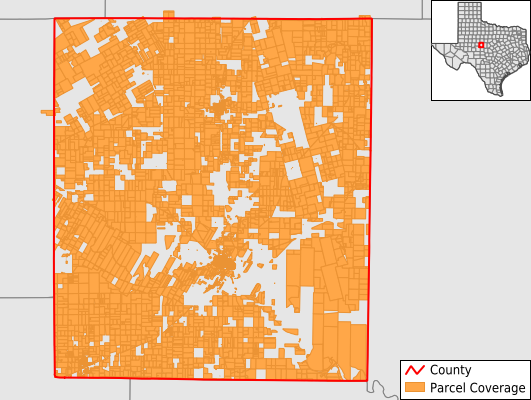 Runnels County Texas GIS Parcel Data Download Coverage