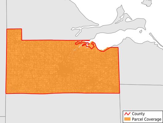 Sandusky County Ohio GIS Parcel Data Download Coverage