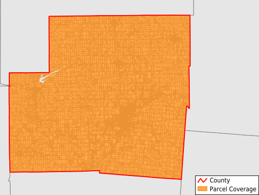 Shelby County Ohio GIS Parcel Data Download Coverage
