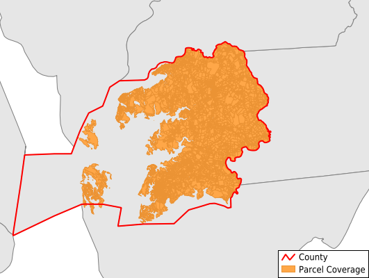 Somerset County Maryland GIS Parcel Data Download Coverage