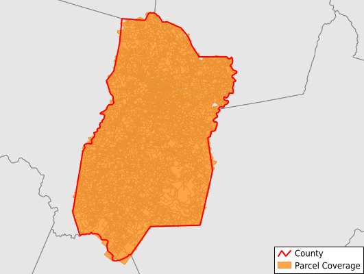 Upshur County West Virginia GIS Parcel Data Download Coverage