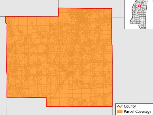 Yalobusha County Mississippi GIS Parcel Data Download Coverage