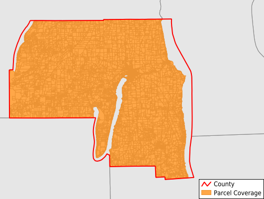 Yates County New York GIS Parcel Data Download Coverage