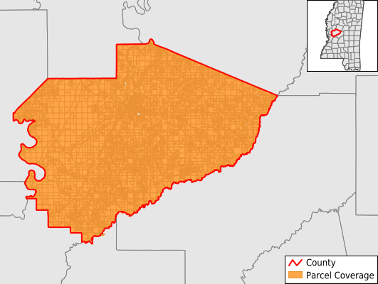 Yazoo County Mississippi GIS Parcel Data Download Coverage